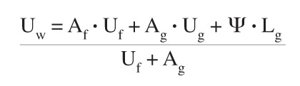 u value formula for calculations - building regulation